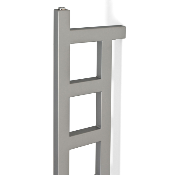 TERMA Easy DW vertikálny radiátor 1660x200 Silver Matt detail