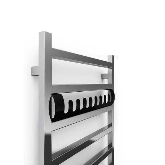 TERMA Simple One dizajnový radiátor 960x500 FARBA Chrome - dizajnový vešiak- detail