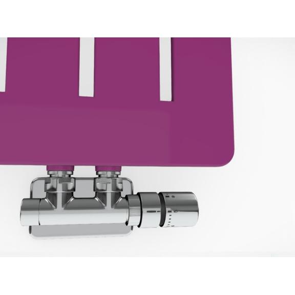 TERMA Aero V dizajnový radiátor - rôzne farebné prevedenia RAL4006 detail