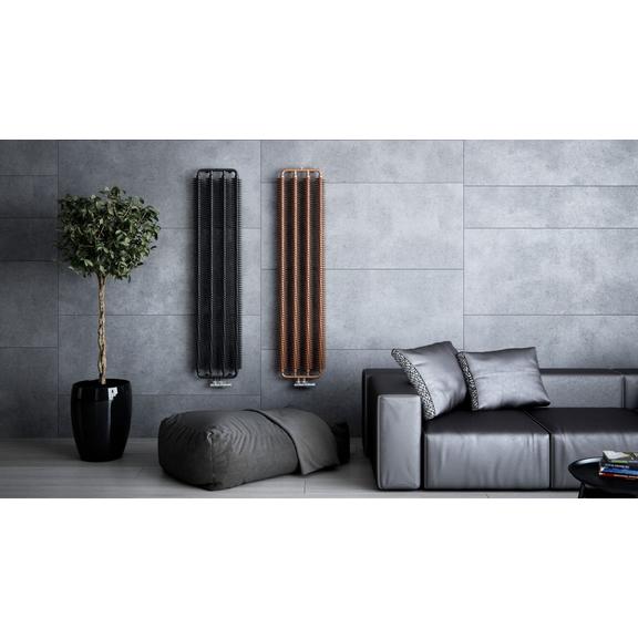 TERMA Ribbon V retro radiátor 1720x390 farba Copper/Metallic Black