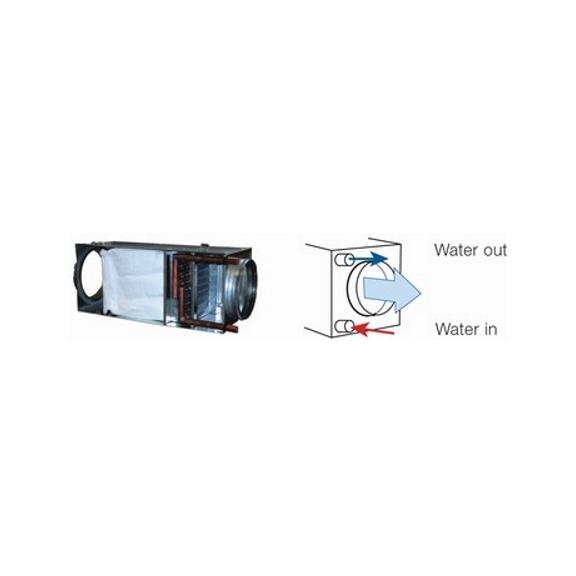 Systemair VBF vodný ohrievač pre kruhové potrubie