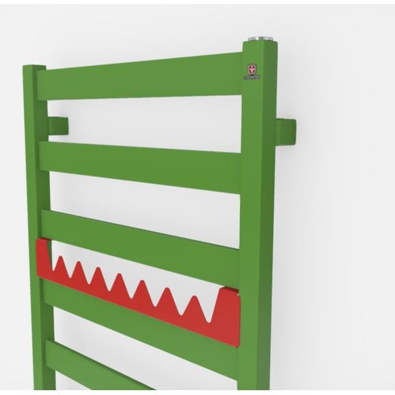 TERMA Vivo kúpeľňový radiátor farebné prevedenia RAL6018 happy shark