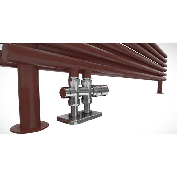 TERMA Tune HSD dizajnový radiátor pod okno detail - verzia vodný