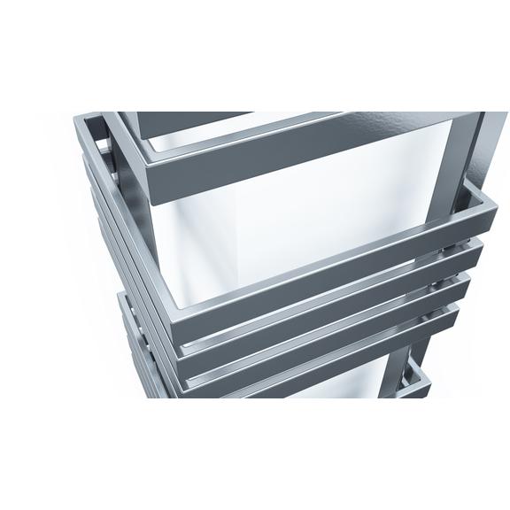 TERMA Outcorner rohový radiátor 1005x300 - Chrome Effect - detail
