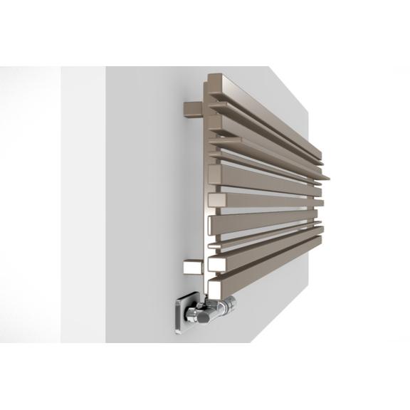 TERMA Sherwood H radiátor pod okno  RAL1014 profily zboku