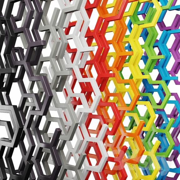 TERMA Hex dizajnový radiátor farby