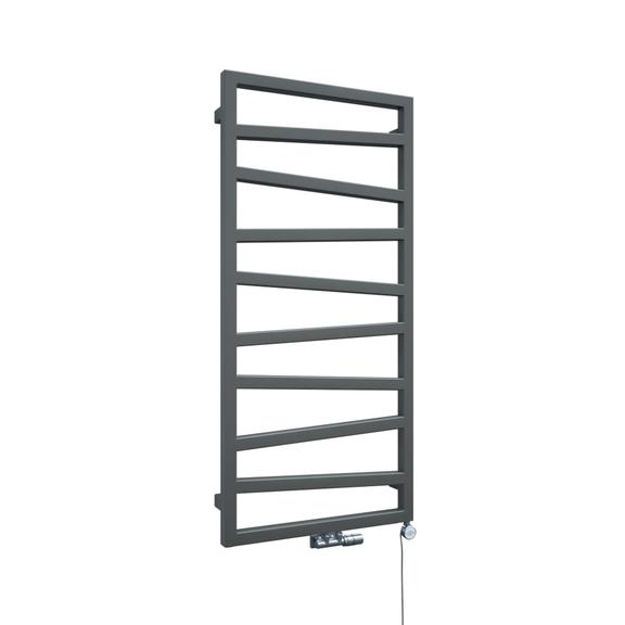 TERMA Zigzag elekrický kúpeľňový radiátor - farba Metallic Stone - veľkosť 1070x500