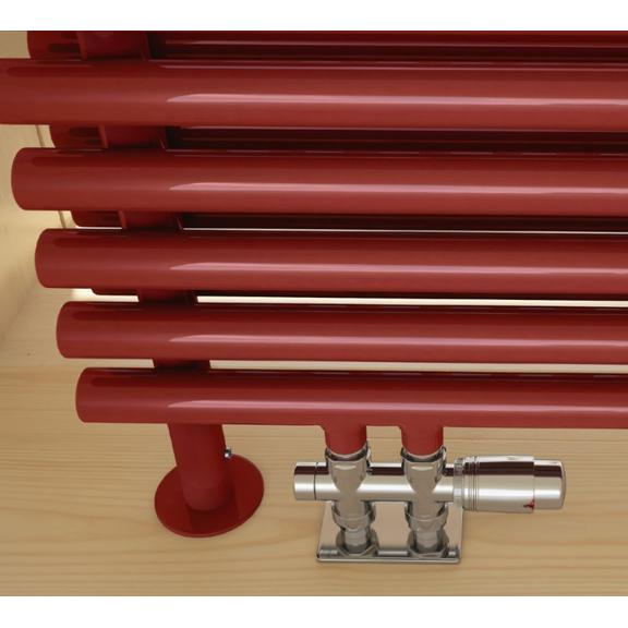 TERMA Tune HSD dizajnový radiátor pod okno 390x1400 RAL3020 detail stojaci