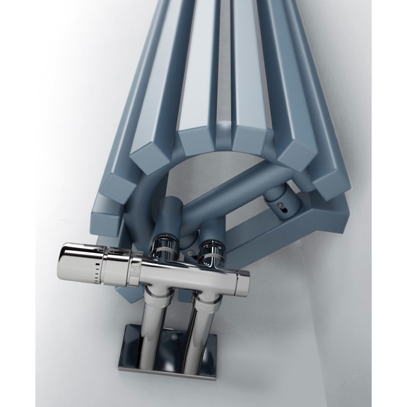 TERMA Triga ANC dizajnový radiátor RAL 5024 detail