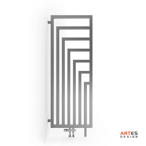 TERMA Angus DW dizajnový radiátor 1460x520 farba Chrome Effect