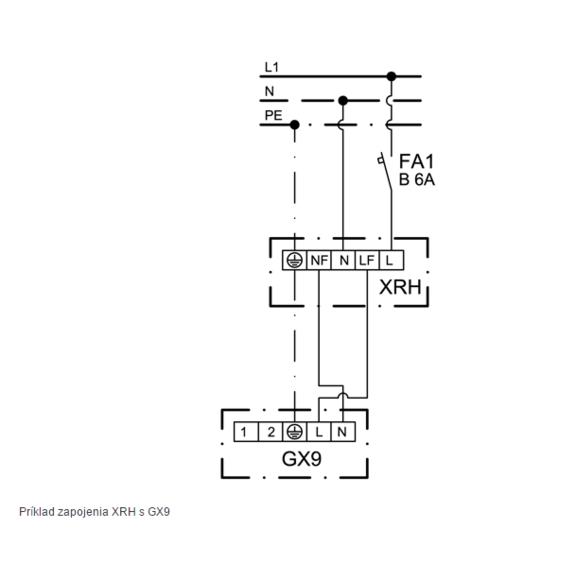 XRH - schéma zapojenia