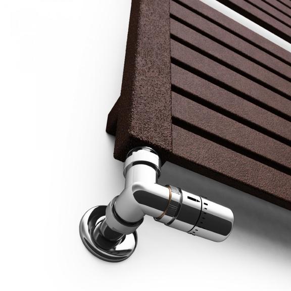 TERMA Mantis dizajnový radiátor 860x540 RAL farba Antique Copper - detail