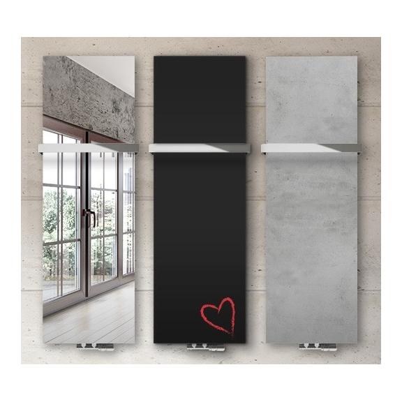 TERMA Case Slim dizajnový vertikálny radiátor - Zrkadlo/Potlač/Betón