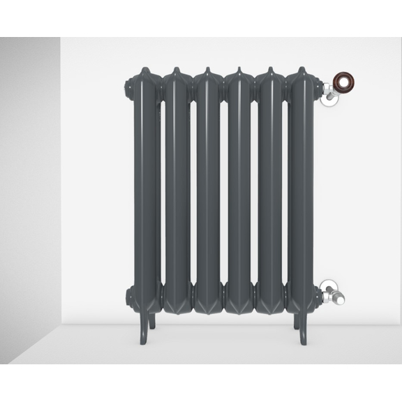 TERMA Plain retro radiátor farba Flat Black stojaci