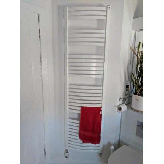 TERMA Dexter elektrický kúpeľňový radiátor 1760x500 RAL9016 na stenu