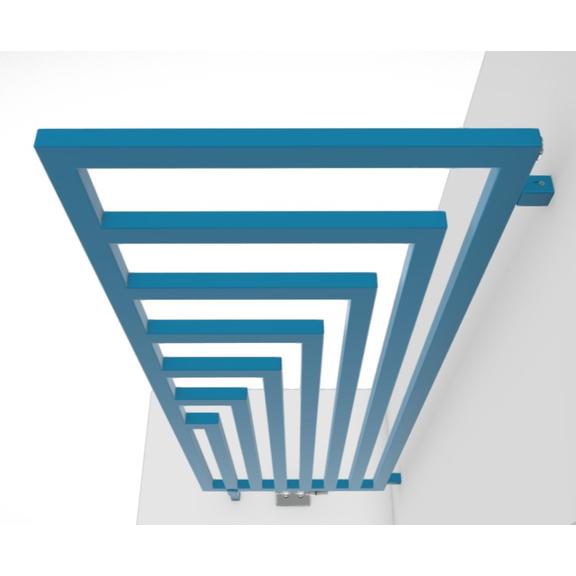 TERMA Angus DW dizajnový radiátor RAL5012 geometrický vzor
