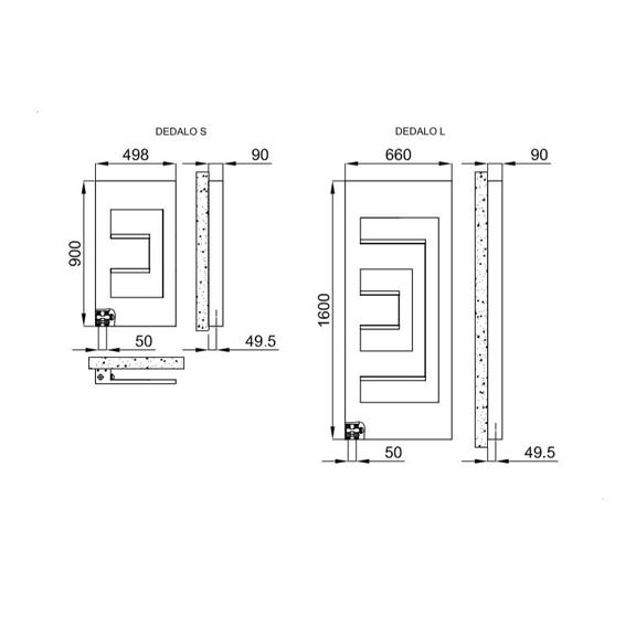 RSAP Dedalo dizajnový radiátor 2 veľkosti