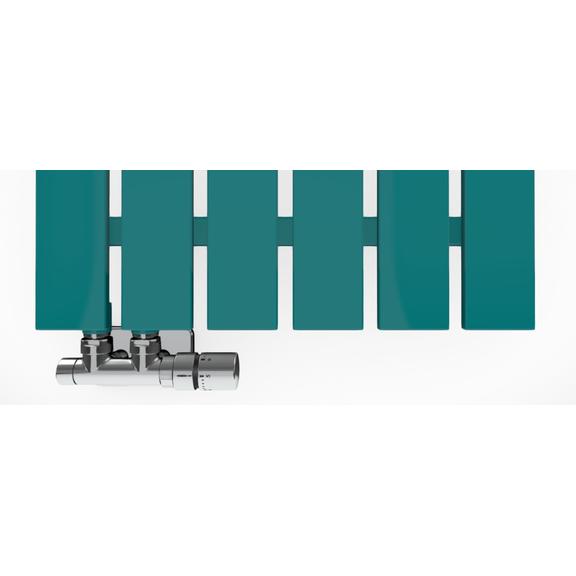 TERMA Cyklon V dizajnový radiátor 1600x495  RAL 5021 Detail