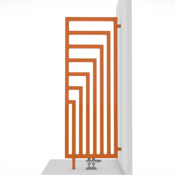 TERMA Angus DW dizajnový radiátor RAL7012 geometrický vzor
