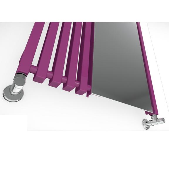 TERMA Triga M dizajnový radiátor so zrkadlom detail