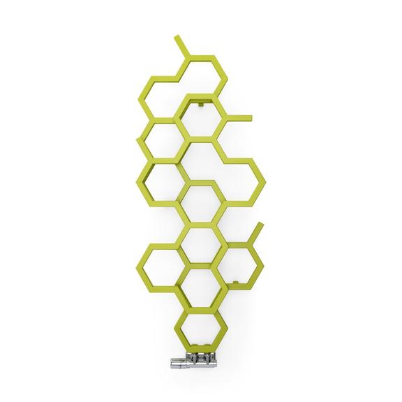 TERMA Hex dizajnový radiátor 1220x480 farba Green Apple