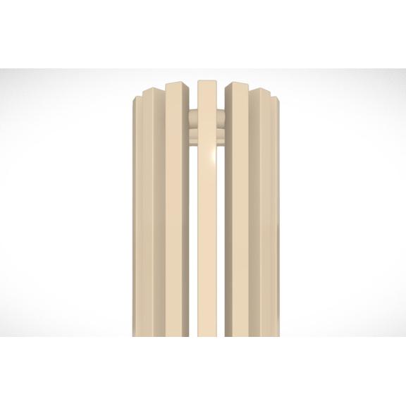 TERMA Triga ANC dizajnový radiátor RAL 1001- detail
