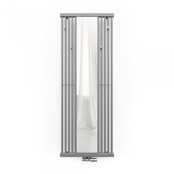 TERMA Intra M radiátor so zrkadlom farba Metallic Stone