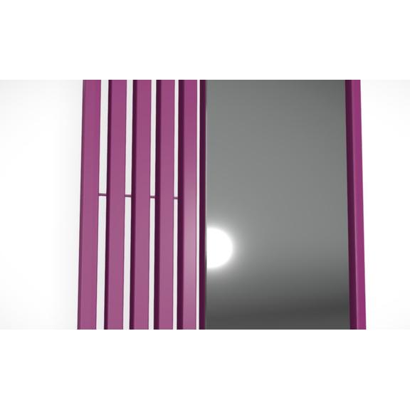 TERMA Triga M dizajnový radiátor - detail zrkadlo