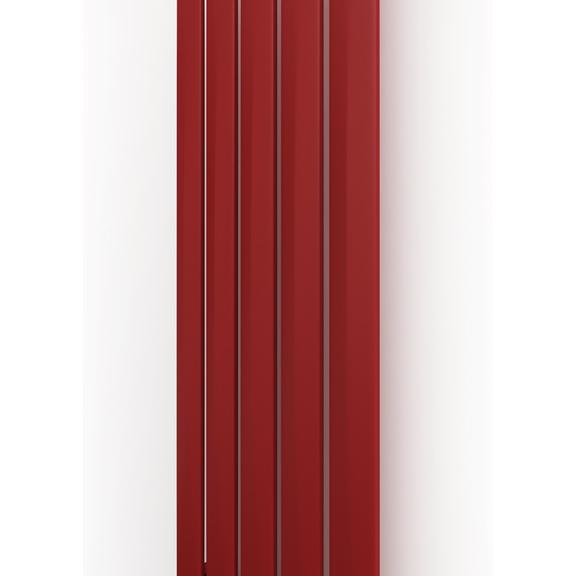 TERMA Aero V dizajnový radiátor 1500x410 farba Metallic Red verikálny na výšku