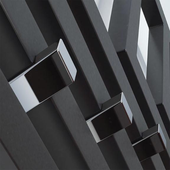 TERMA Angus V dizajnový radiátor 1780x680 farba Modern Grey detail profily