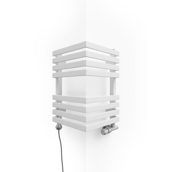 TERMA Outcorner elektrický rohový radiátor 465x300 farba Soft 9016