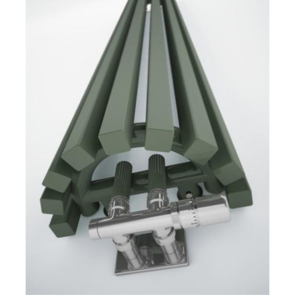 TERMA Triga AN dizajnový radiátor RAL 7003 detail