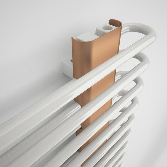 TERMA Michelle dizajnový radiátor RAL9016 a Cooper detail zhora  - profily