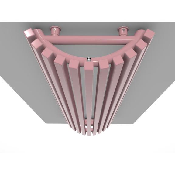 TERMA Triga AW dizajnový radiátor RAL3015 profily do polkruhu