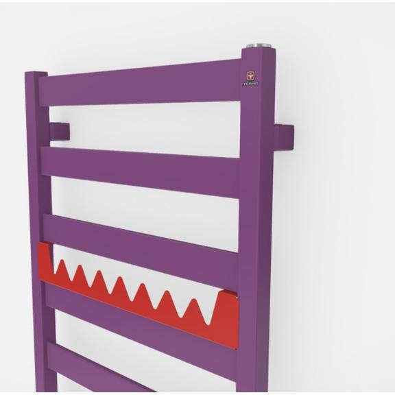 TERMA Vivo kúpeľňový radiátor farebné prevedenia RAL4008 happy shark