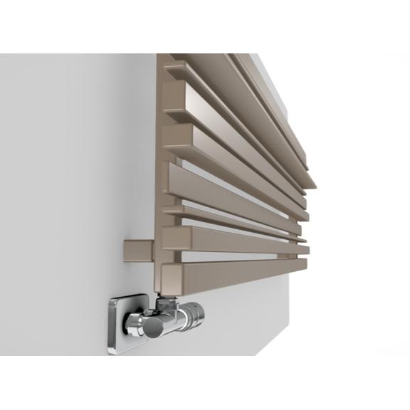 TERMA Sherwood H radiátor pod okno RAL1014 ovládanie Detail