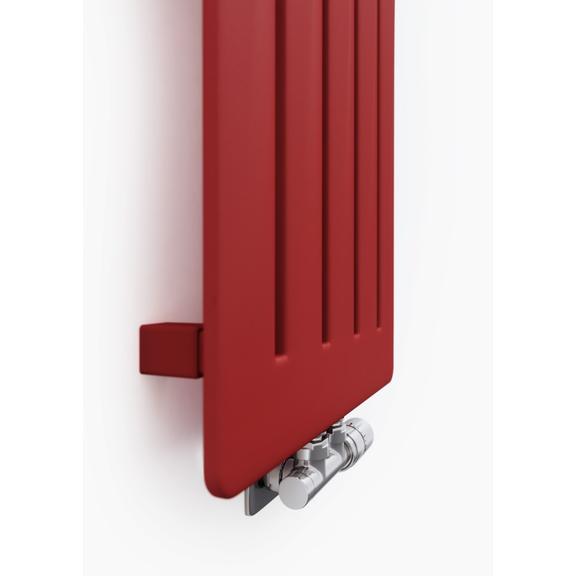 TERMA Aero V dizajnový radiátor 1500x410 farba Metallic Red na stenu