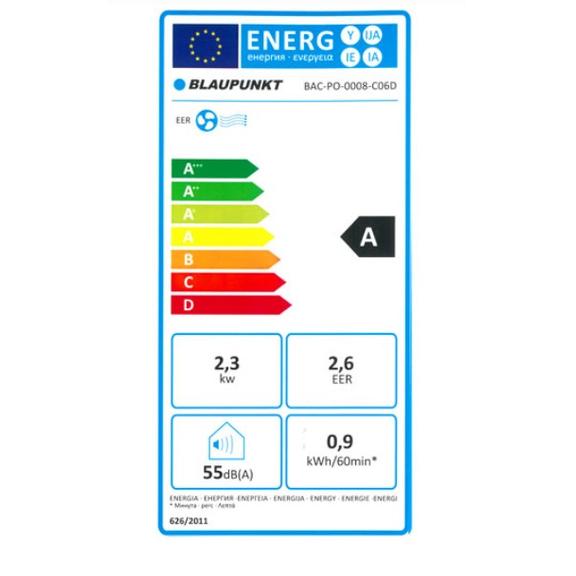 Blaupunkt Arrifana 08C mobilná klimatizácia - energetická trieda