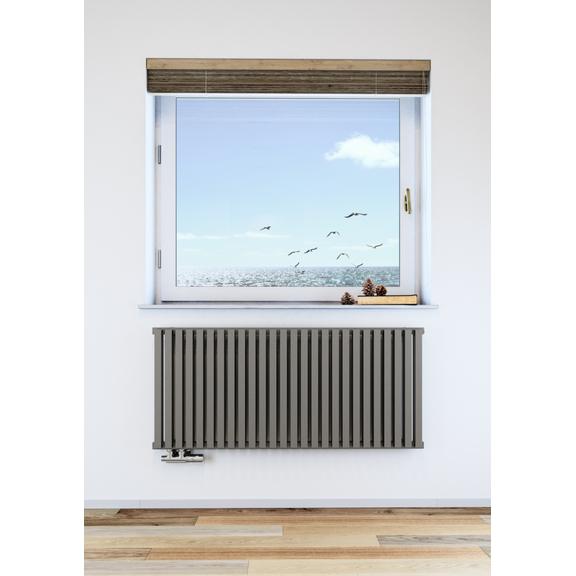 TERMA Nemo dizajnový radiátor pod okno farba Metallic Stone