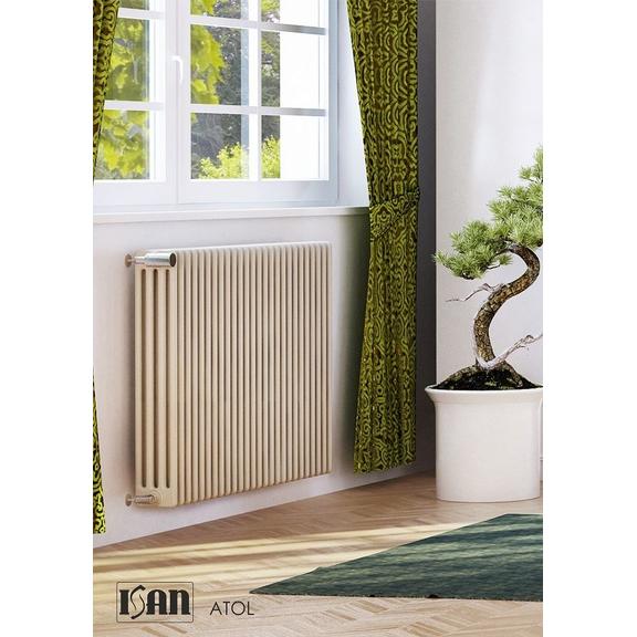ISAN Atol C4 oceľový článkový radiátor RAL 9001