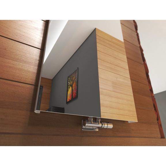 TERMA Case Slim dizajnový vertikálny radiátor - Zrkadlo detail