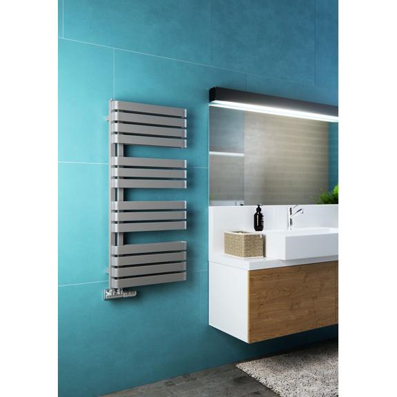 TERMA Warp S dizajnový radiátor 1110x500 RAL 7042 moderná kúpeľňa