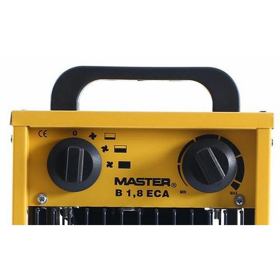 Master B 1.8 ECA domáci elektrický ohrievač s ventilátorom ovládací panel