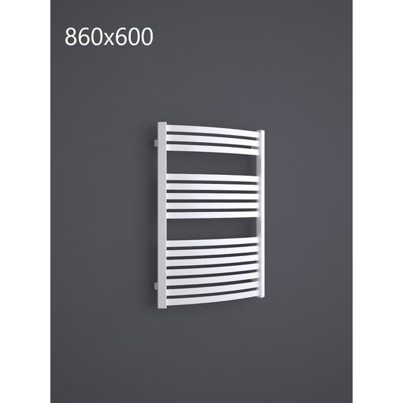 TERMA Dexter kúpeľňový radiátor RAL9016 860x600