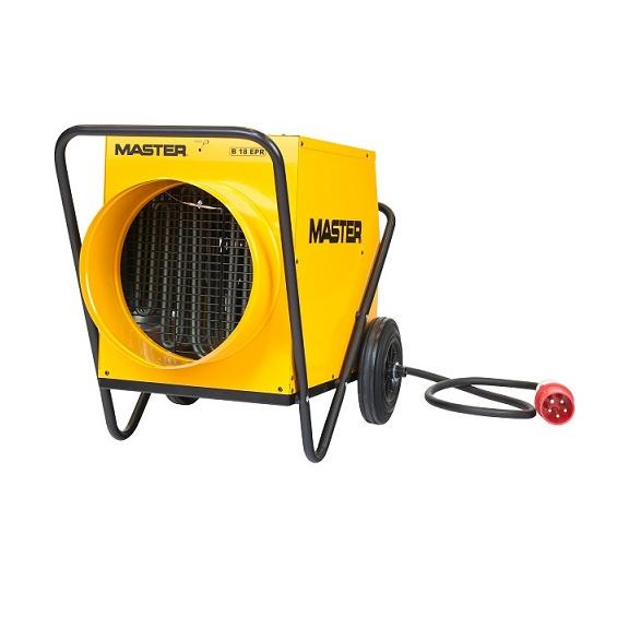 Master B 18 EPR profesionálny elektrický ohrievač s ventilátorom a s možnosťou pripojenia pružnej hadice
