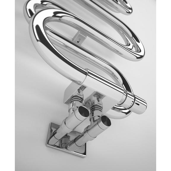 TERMA Perla dizajnový radiátor chróm detail
