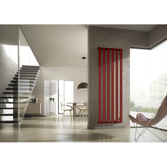 IRSAP Step V dizajnový radiátor 2000x670 farba Flame Red