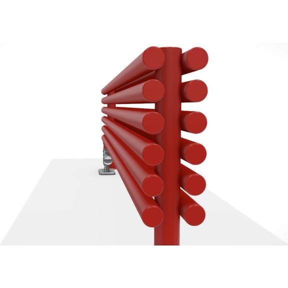 TERMA Tune HSD dizajnový radiátor pod okno 390x1400 RAL3020 upevnenie na zem