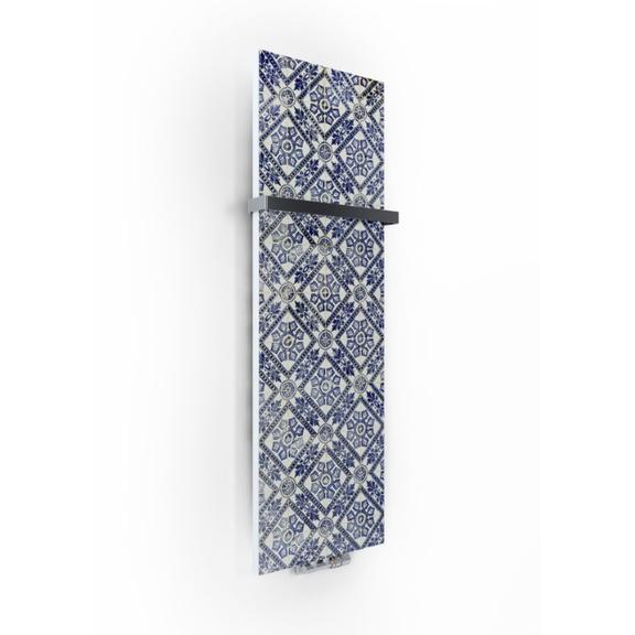 TERMA Case Slim dizajnový radiátor s potlačou - vzor 3 - zboku