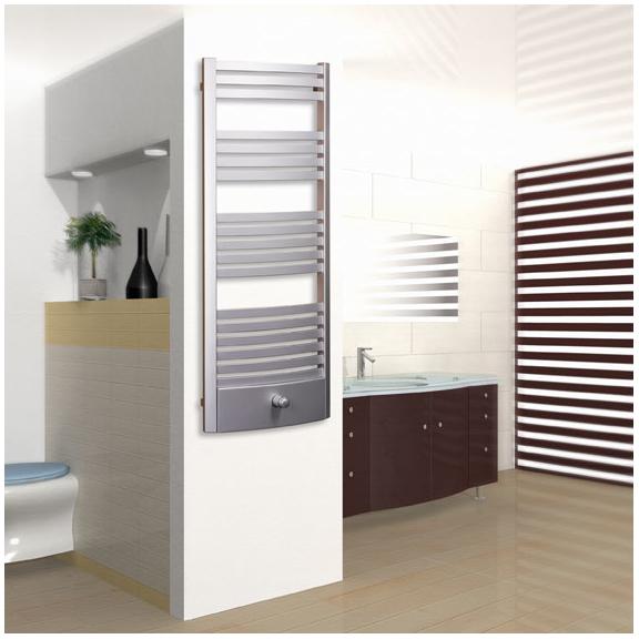 TERMA Dexter Pro kúpeľňový radiátor 1220x500 farba Chrome effect - v interiéri
